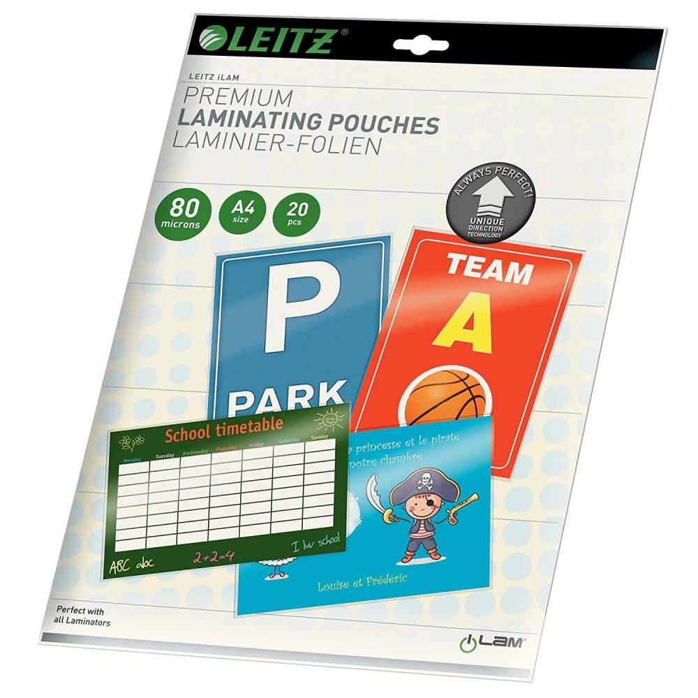 Pochettes de Plastification iLam UDT A4 160 mic (2x80) Brillant - par lot de 20