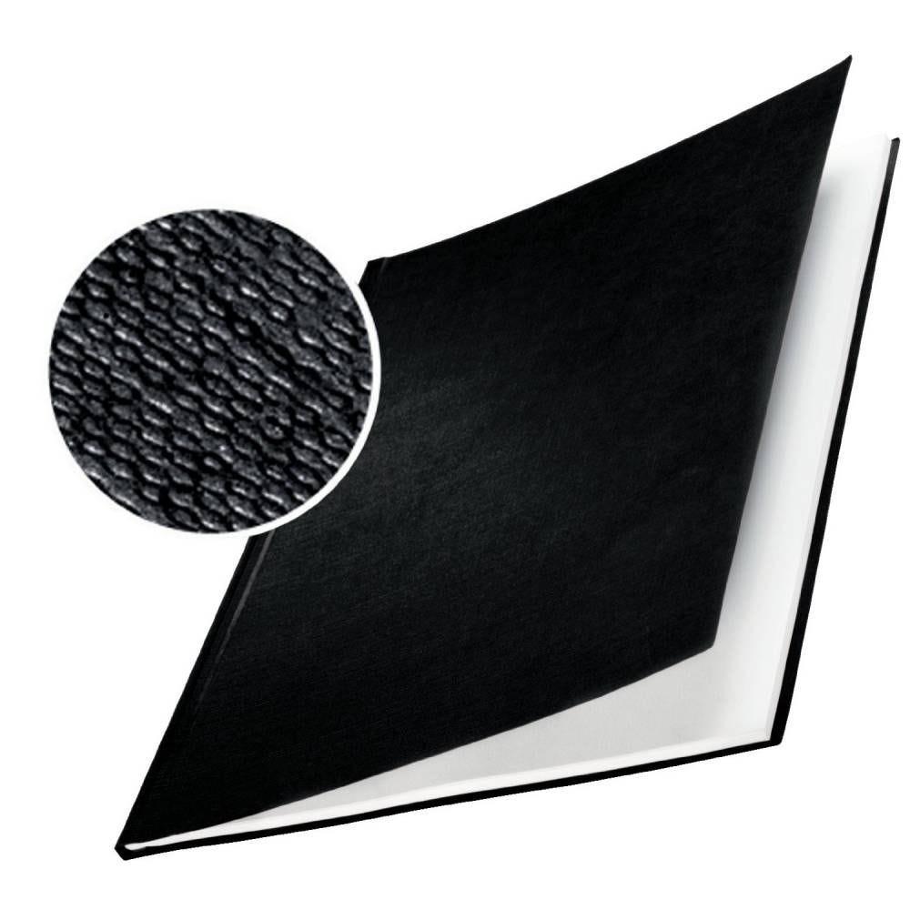 Impressbind Lot de 10 Chemise carton toilé rigide 7 mm Noir