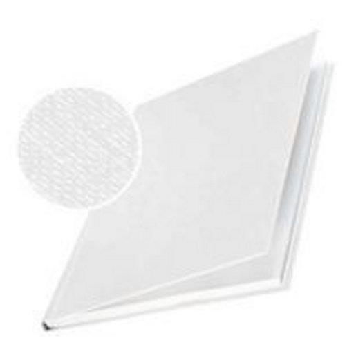 Impressbind Lot de 10 Chemise carton toilé rigide 14 mm 106 à 140 feuilles Blanc