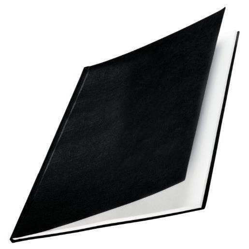 Impressbind Lot de 10 Chemise carton toilé rigide 14 mm 106 à 140 feuilles Noir