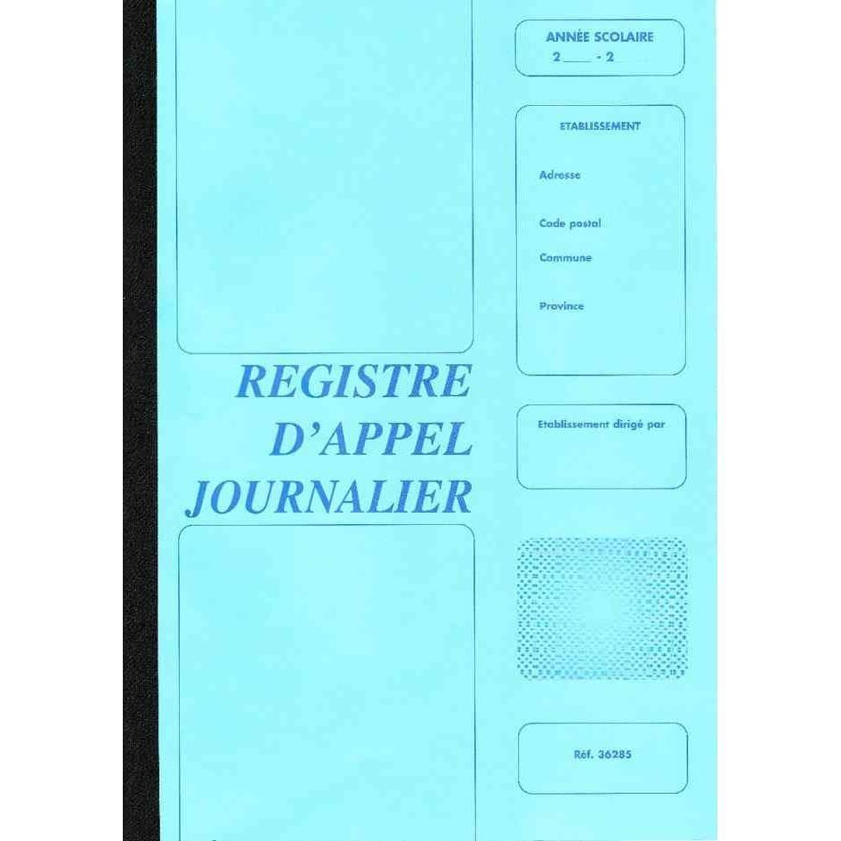 Piqure 28 pages 'Reg.Ccahier d'appel journalier' 40 élèves