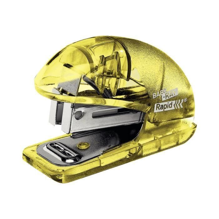Mini-Agrafeuse Colour'Ice F4 pour 24/6 - 26/6 Jaune Translucide