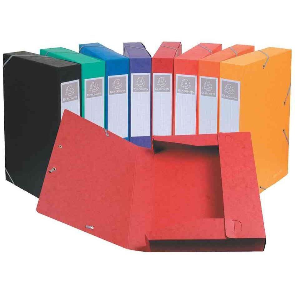 Boîte de classement à élastiques Cartobox A4 dos de 40 mm Coloris aléatoire