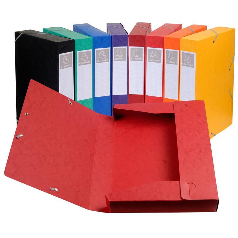 Boîte de classement à élastiques Cartobox A4 dos de 50 mm Coloris aléatoire