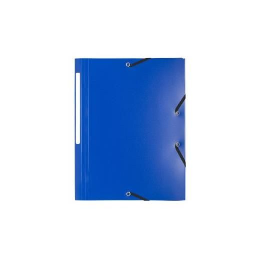 Chemise 3 rabats et élastiques Polypro 5/10e 24 x32 cm Bleu foncé