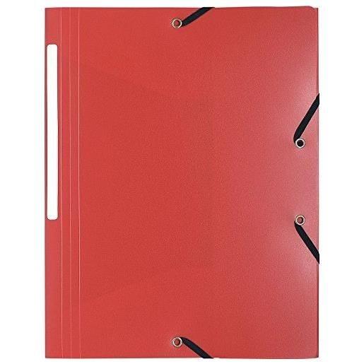 Chemise 3 rabats et élastiques Polypro 5/10e 24 x32 cm Rouge