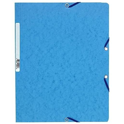 Chemise à élastiques sans Rabats carton 400g 24x32 cm Turquoise