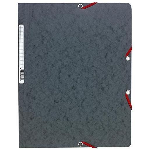 Chemise à élastiques sans Rabats carton 400g 24x32 cm Gris
