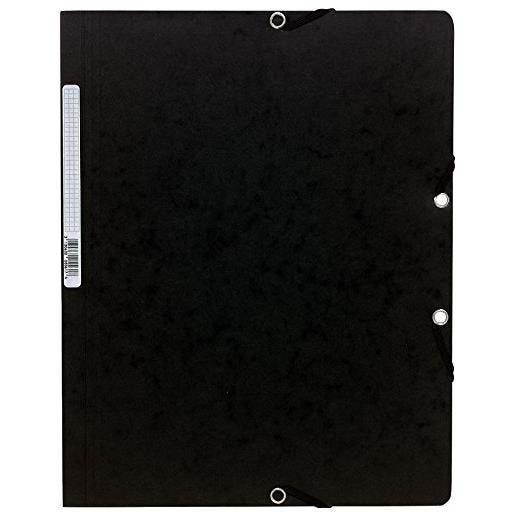 Chemise à élastiques sans Rabats carton 400g 24x32 cm Noir