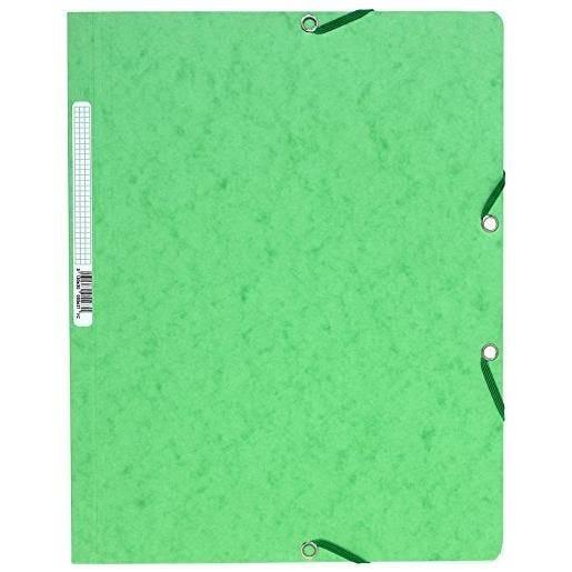 Chemise à élastiques sans Rabats carton 400g 24x32 cm Vert Tilleul