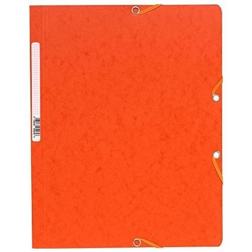 Chemise à élastiques sans Rabats carton 400g 24x32 cm Orange
