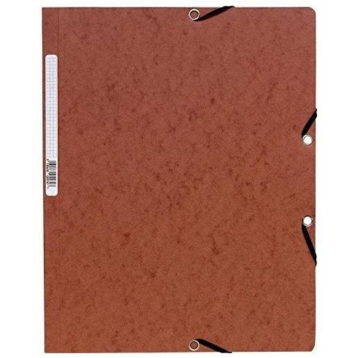 Chemise à élastiques sans Rabats carton 400g 24x32 cm Tabac