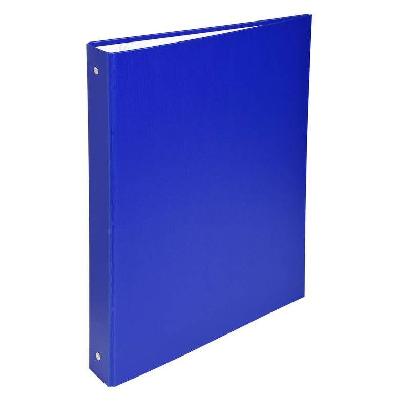 Classeur rembordé polypropylène 4 anneaux 30mm Bleu