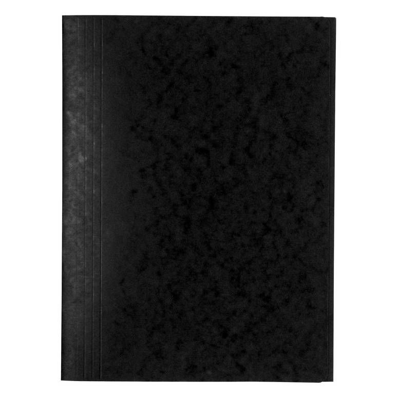 Chemise 3 rabats sans élastique carte lustrée 24 x32 cm Noir