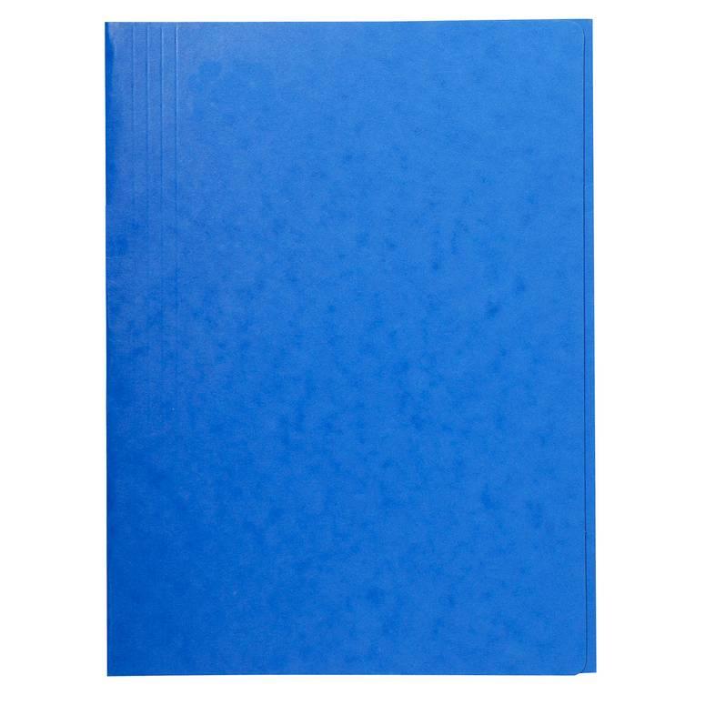 Chemise 3 rabats sans élastique carte lustrée 24 x32 cm Bleu