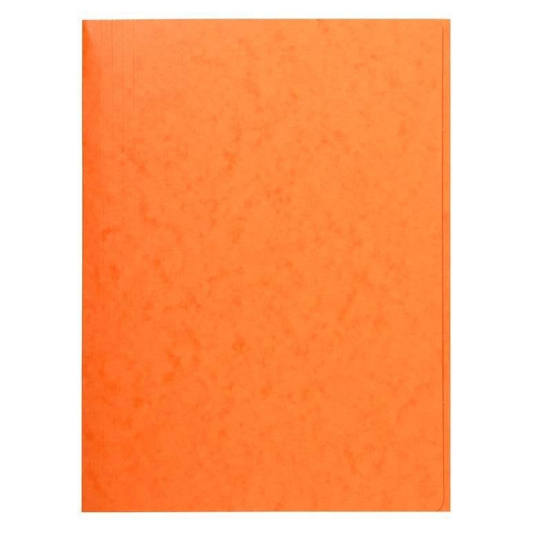 Chemise 3 rabats sans élastique carte lustrée 24 x32 cm Orange