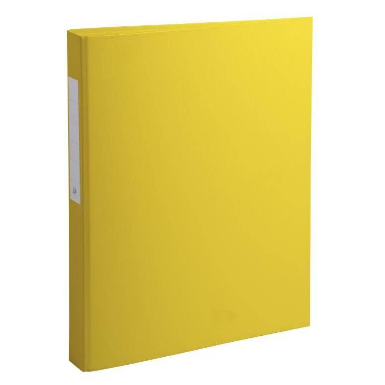 Classeur à anneaux, PP, 2 anneaux, A4, jaune