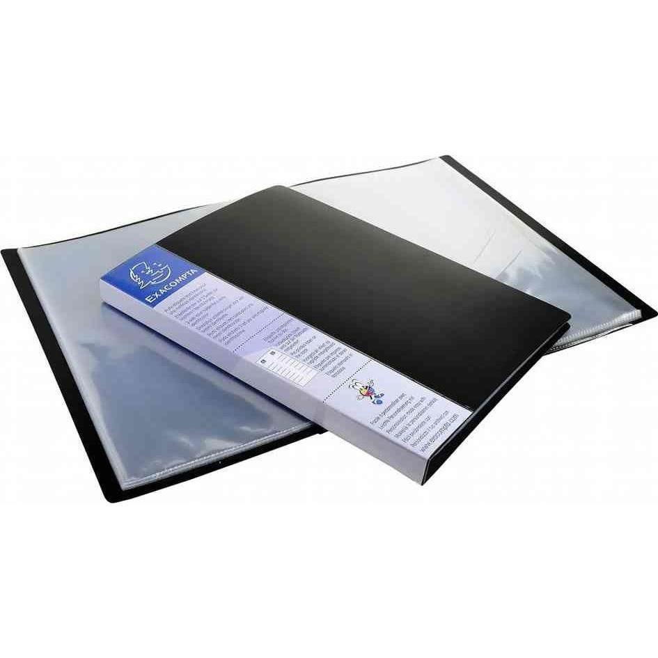 Protège-documents UPLINE PP Opaque 20 pochettes 40 vues Noir