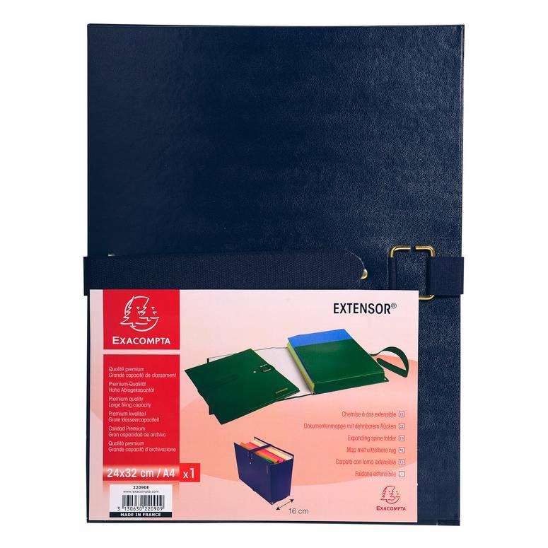Chemise à boucle métal EXTENSOR 24x32 cm Capacité 16 cm Bleu