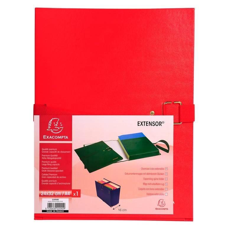 Chemise à boucle métal EXTENSOR 24x32 cm Capacité 16 cm Rouge