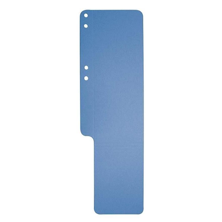 Queues de papier, 100 pièces, carton recyclé bleu