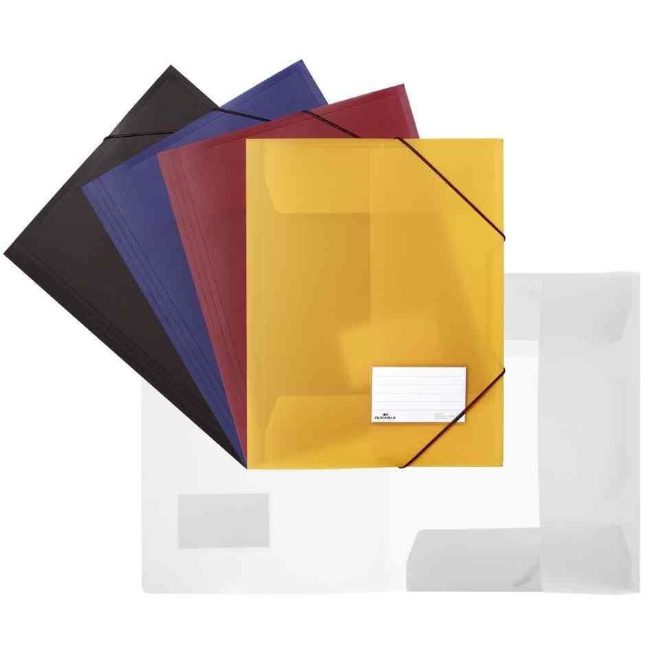 Chemise à élastiques, format A4, PP, Bleu