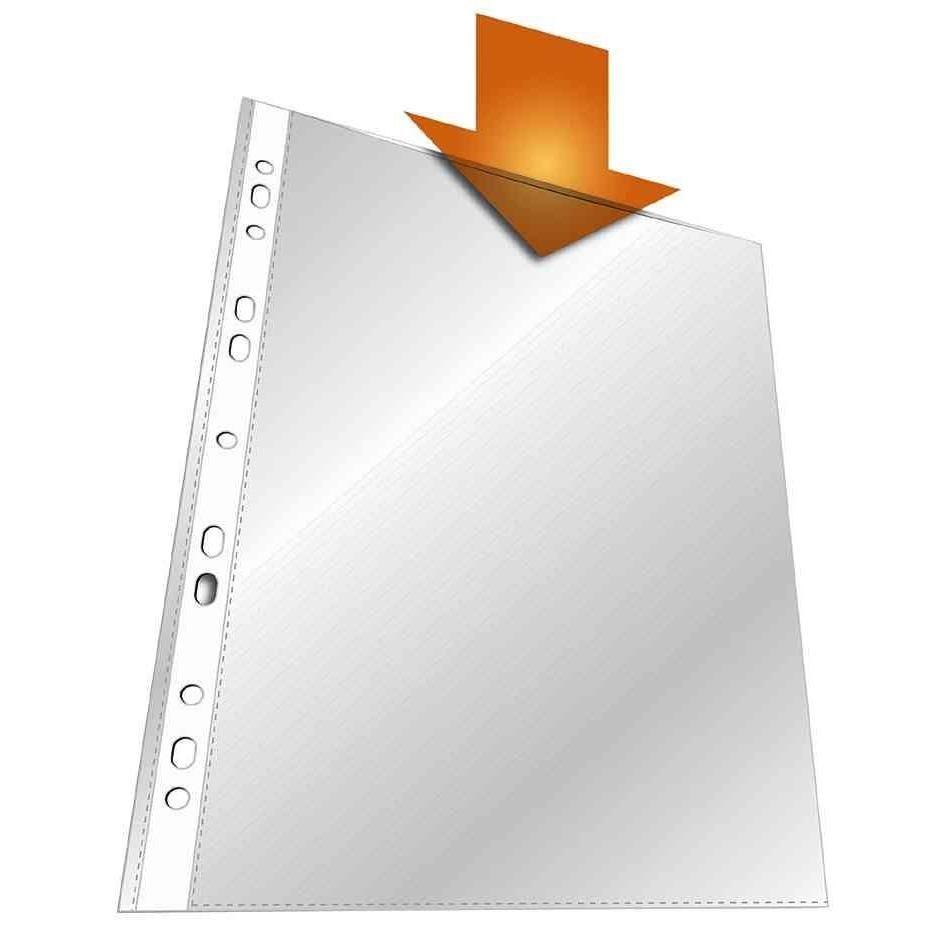 Boîte de 100 Pochettes Perforées A4 PP Extra Stark Transparentes - boîte de 100