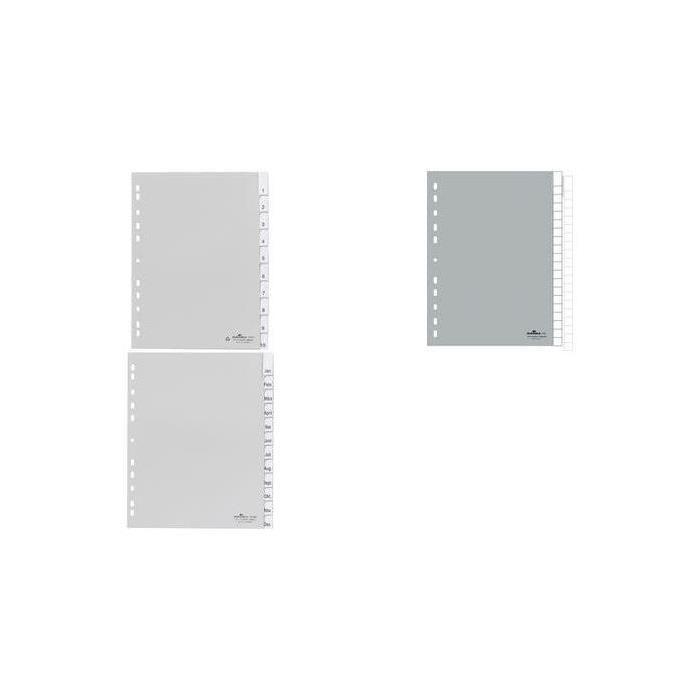 Chemise à clip en plastique, A4, PP, en 12, gris - par 20