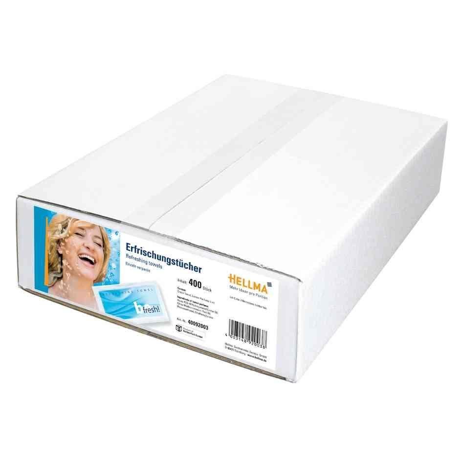 Boîte de 400 Lingettes rafraîchissantes 'befresh' odeur citron (photo)
