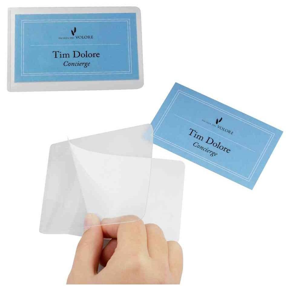 Pochettes de plastification à froid SEAL IT pour cartes 54 x 90mm - Sachet de 10