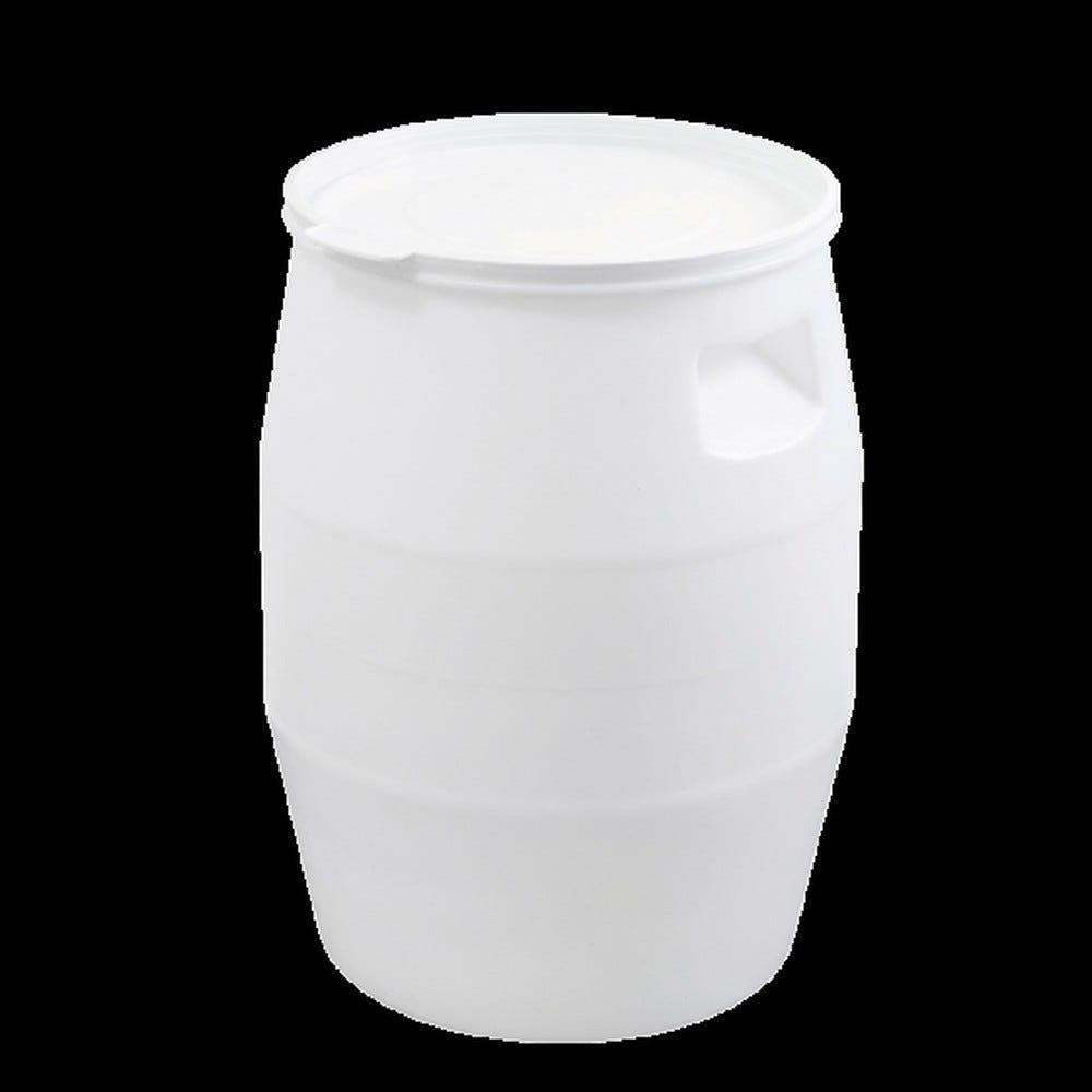 Fût 50 litres blanc + couvercle languette - gilac