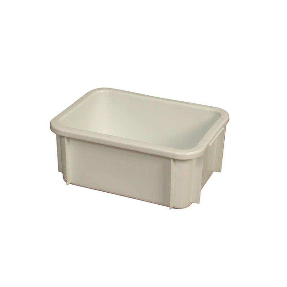 Bac rectangulaire empilable 12 litres coloris blanc - gilac