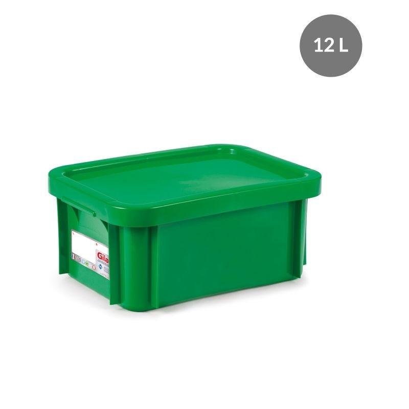 Bac antibactérien + couvercle 12 litres coloris vert (photo)