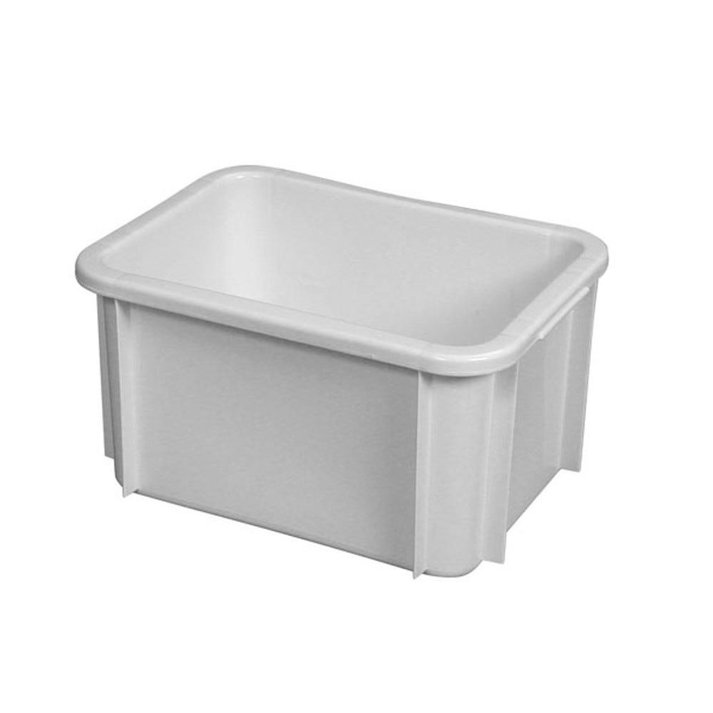 Bac rectangulaire empilable 15 litres coloris blanc - gilac