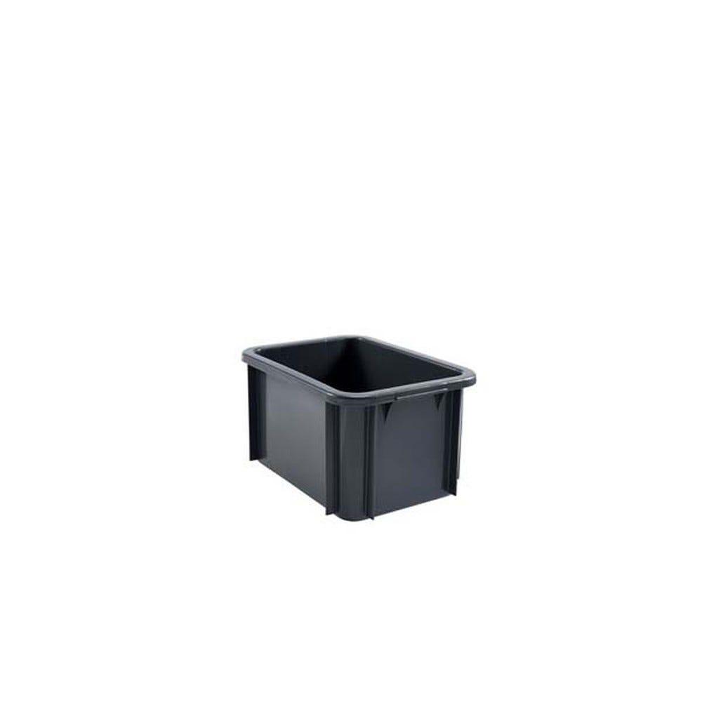Bac rectangulaire empilable 15 litres coloris gris - gilac