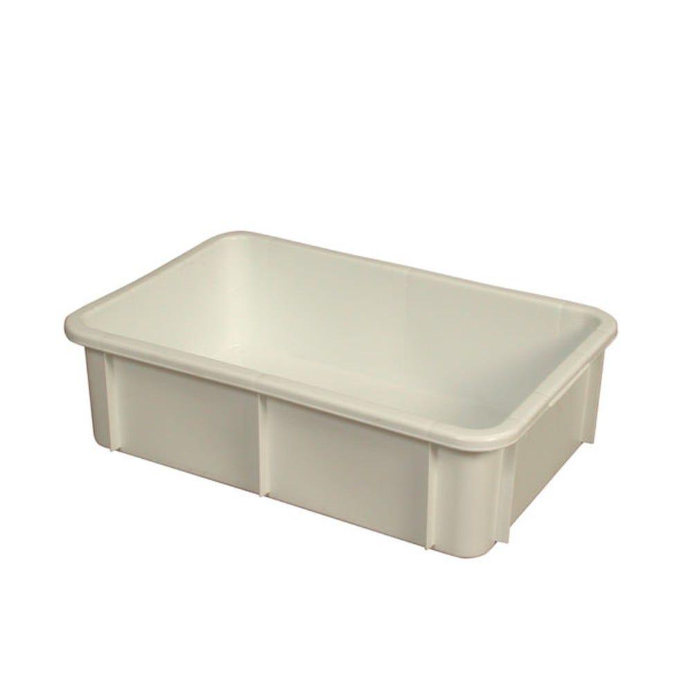 Bac rectangulaire empilable 25 litres coloris blanc - gilac