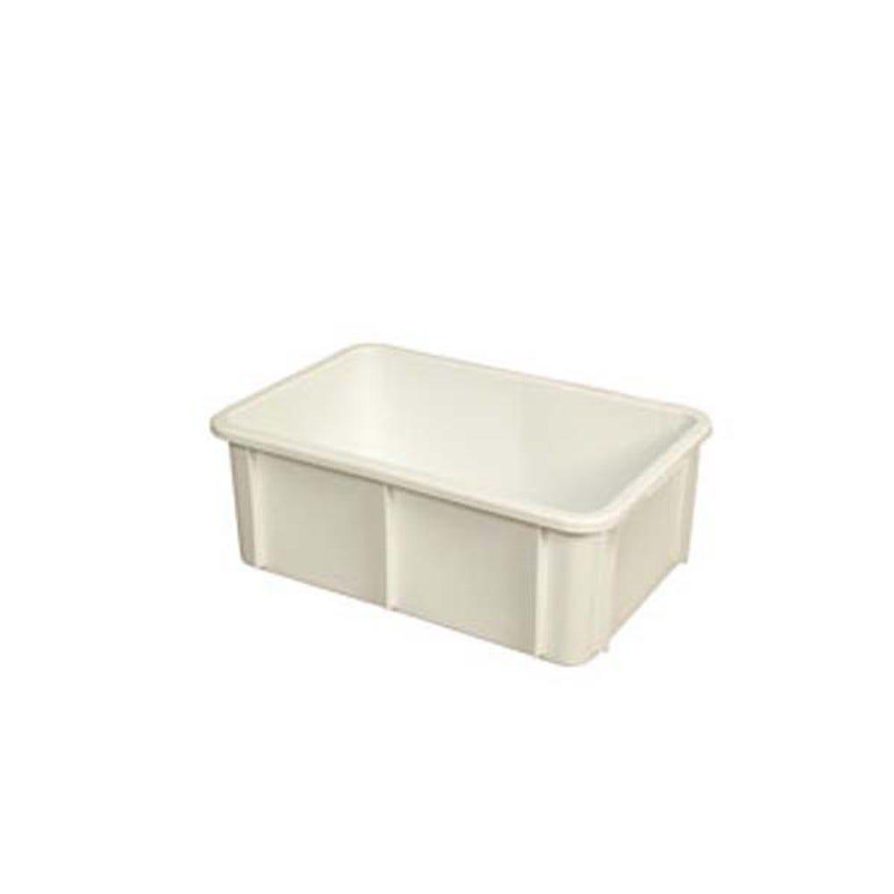 Bac rectangulaire 35 litres coloris blanc - gilac