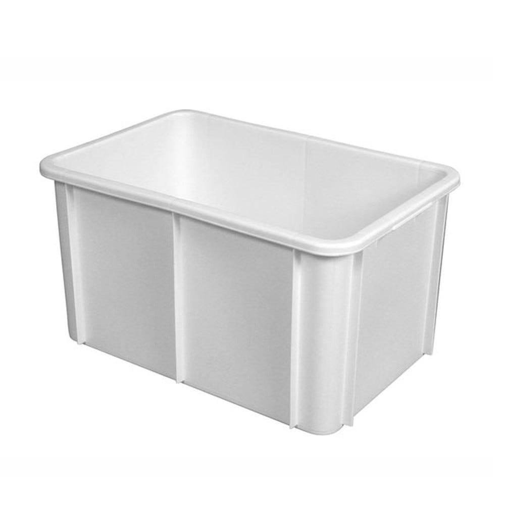 Bac rectangulaire 55 litres coloris blanc - gilac