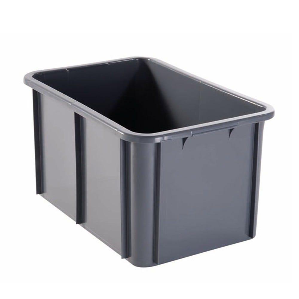 Bac rectangulaire 55 litres coloris gris - gilac