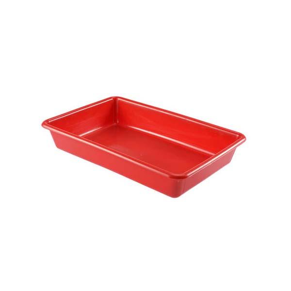 Bac plat 3 litres coloris rouge (photo)