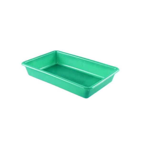 Bac plat 3 litres coloris vert (photo)