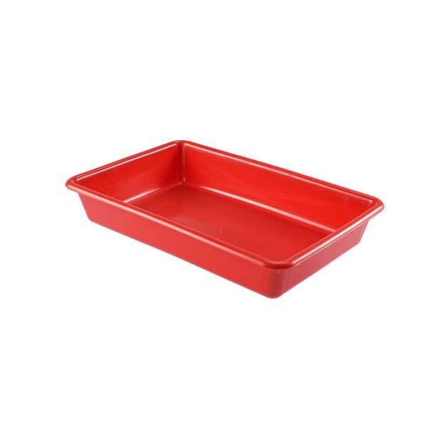 Bac plat 5 litres coloris rouge (photo)