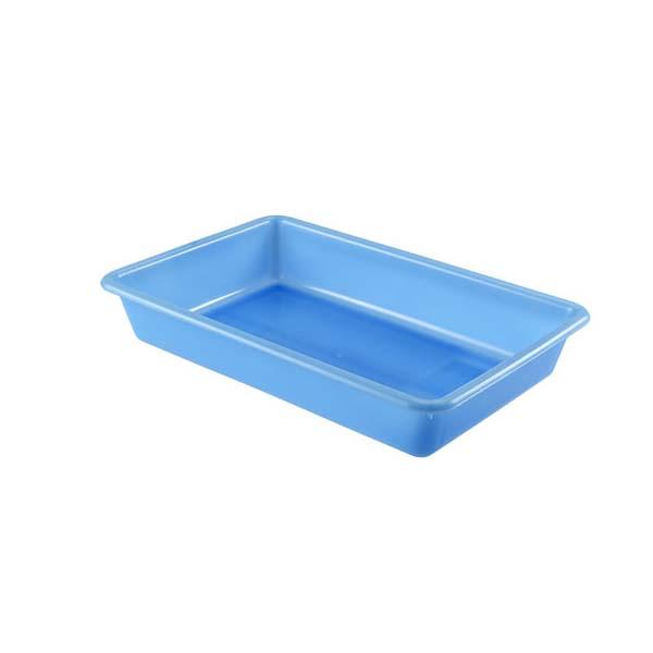 Bac plat 5 litres coloris bleu (photo)