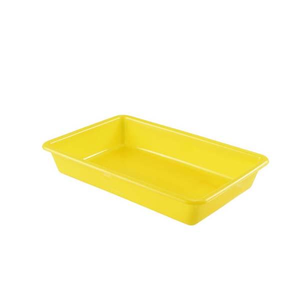 Bac plat 5 litres coloris jaune (photo)