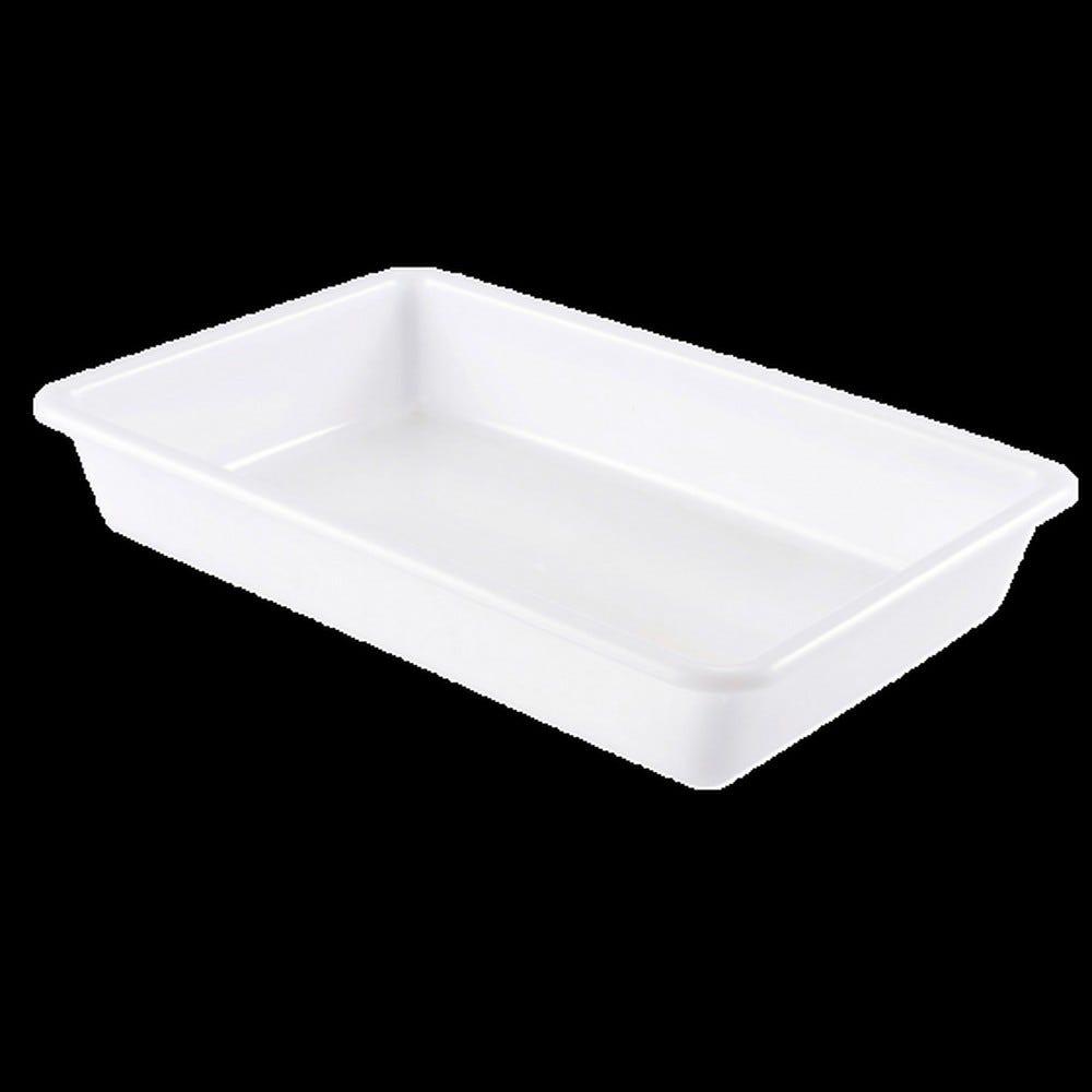 Bac plat 8 litres coloris blanc (photo)