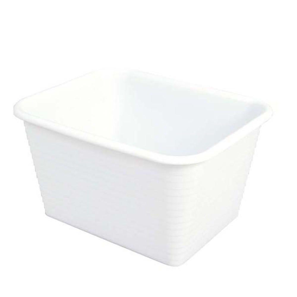 Bac profond 45 litres coloris blanc - gilac