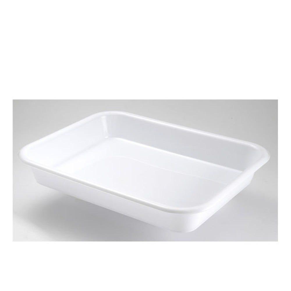 Bac à diviseuse rectangulaire 10 litres coloris blanc - gilac (photo)