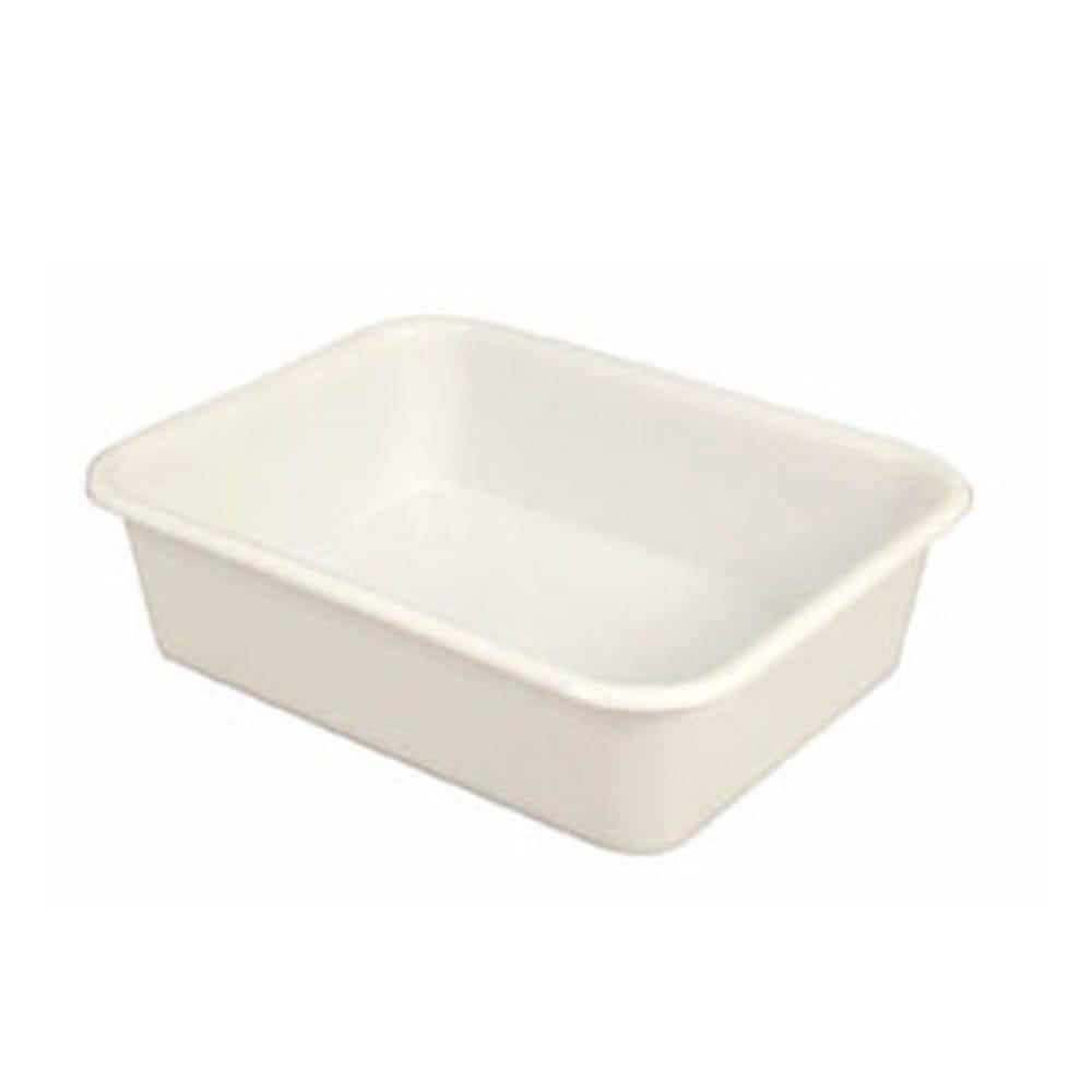 Bac à diviseuse rectangulaire 20 litres coloris blanc - gilac (photo)