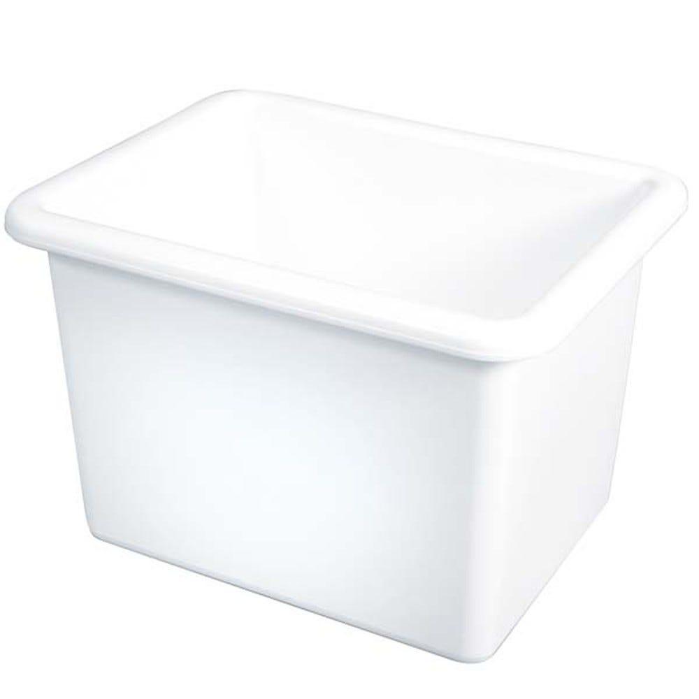 Bac profond 55 litres coloris blanc - gilac