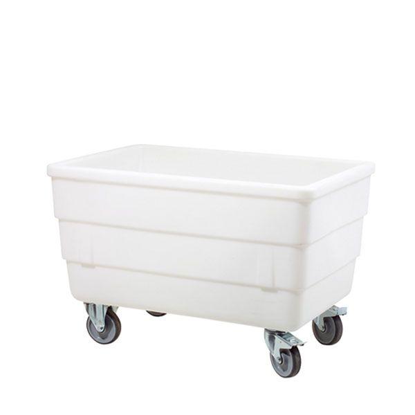 Bac autoporteur 310 litres coloris blanc mousse avec roues inox (photo)
